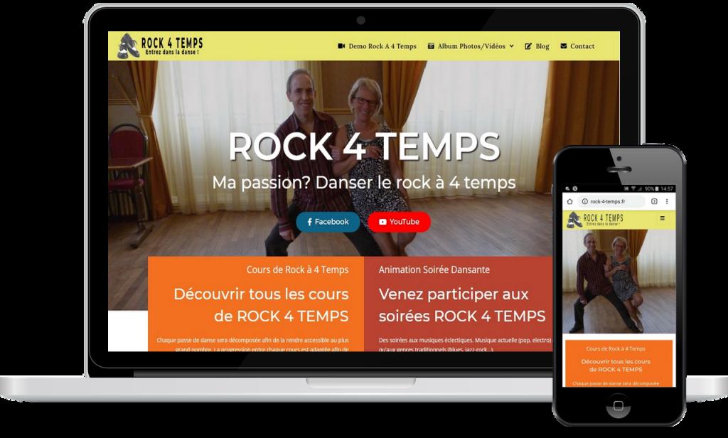 Rock 4 Temps: http://rock-4-temps.fr , réalisé par Rouergue Création