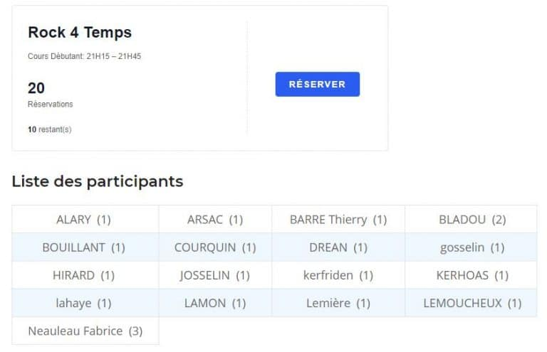 Plugin Easy Custom Event Tickets: Bloc Event Tickets RSVP, Liste Participants