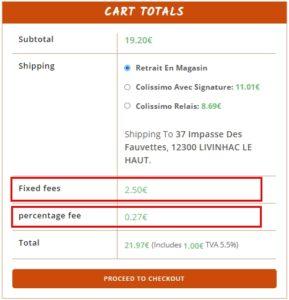 Plugin Easy Custom OceanWP Shop : Frais Fixe ou en Pourcentage pour le panier WooCommerce